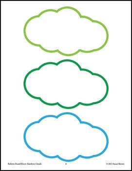 Bulletin Board Decor: Rainbow Clouds