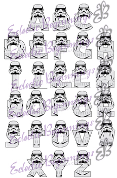 Bulletin Board Decor-Storm Trooper Letters