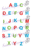 Bulletin Board Decor-Thomas the Train Letters Alphabet Upper and Lower Case