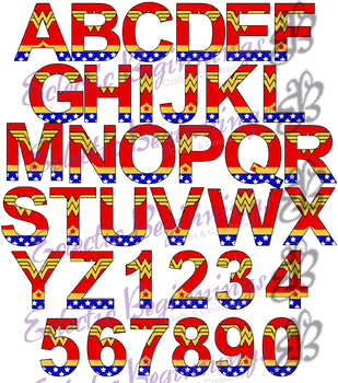Bulletin Board Decor-Wonder Woman Letters Alphabet