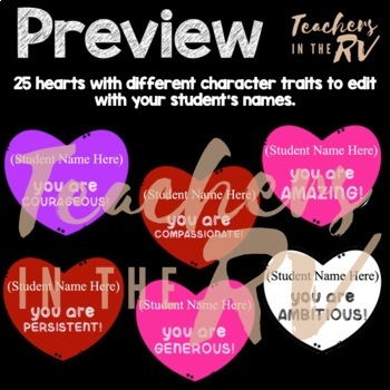 Bulletin Board | Decorations | Character Traits | Valentine's Day