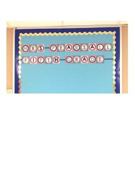 Bulletin Board Decorative Letters A - Z