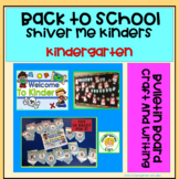 Back to School Bulletin Board Display, Craft and Name. Shiver Me Kinder