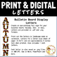 Bulletin Board Display Letters: FALL Theme