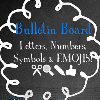 Bulletin Board Set Blue & Black