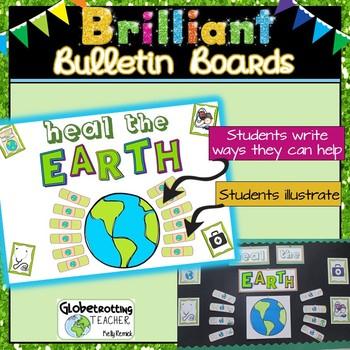 Earth Day Bulletin Board - Heal the Earth Activity