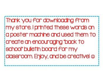 Bulletin Board Encouragment