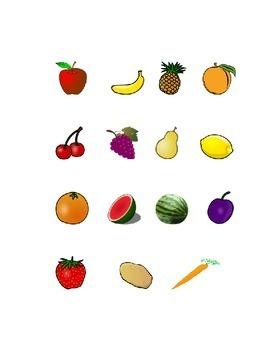 Bulletin Board Fruit Vegetable Cut-Out Tree Kindergarten ...