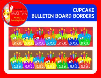 Bulletin Board Fun Cupcake Borders
