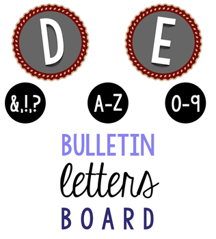 Bulletin Board Red Scallop Letters & Numbers