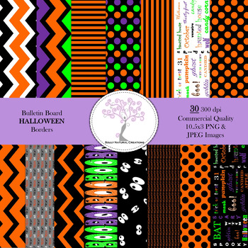 Bulletin Board HALLOWEEN Borders
