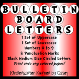 "Bulletin Board Header Circle Letters 5"" Alphabet Numbers"