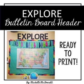 Bulletin Board Header: EXPORE