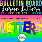 Bulletin Board Header Full Page Letters and Numbers Set -