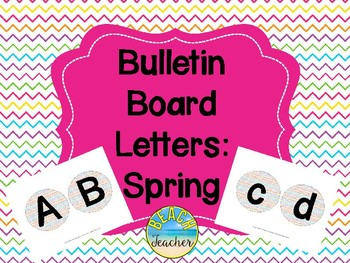 Bulletin Board Headers: Spring Themed