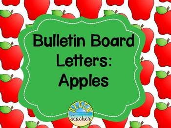 Bulletin Board Headers: Apple Themed