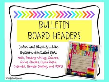 Bulletin Board Headers - BIG LETTERS! **Growing Bundle**