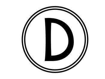 Bulletin Board Headers - Circles (Capital, Lowercase, Numbers, etc.)