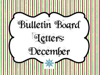 Bulletin Board Headers: December Themed