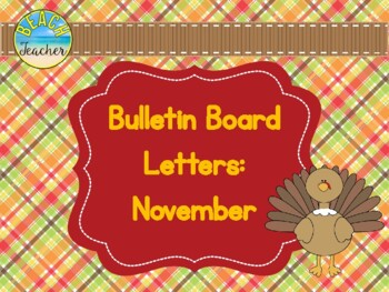 Bulletin Board Headers: November Themed