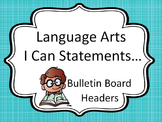 Bulletin Board Headers for Language Arts