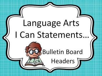 Bulletin Board Headers for Language Arts