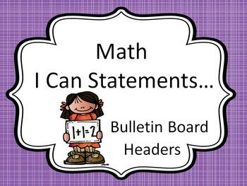 Bulletin Board Headers for Math