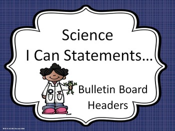 Bulletin Board Headers for Science