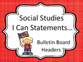 Bulletin Board Headers for Social Studies