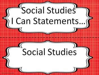 Bulletin Board Headers for Social Studies