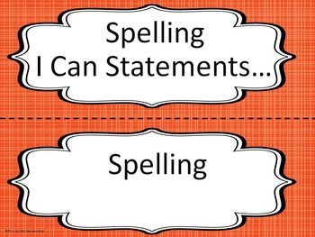 Bulletin Board Headers for Spelling