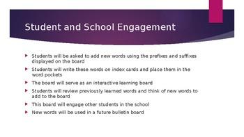 Bulletin Board Idea and explanation Prefixes and Suffixes