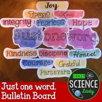 Bulletin Board: Just one word.