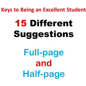 Bulletin Board - Keys to Being an Excellent Student