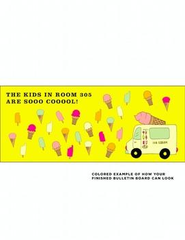 Bulletin Board Kit DIY 'so cool' ice cream theme