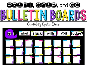 Bulletin Board Kit: What Stuck With You? Ticket Out the Door