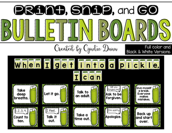 Bulletin Board Kit: When I Get Into a Pickle Problem Solving