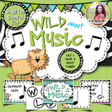 Bulletin Board Kit: Wild About Music! Set 1: Notes & Rests