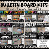 Monthly Bulletin Board Kits with Writing Activities (Year
