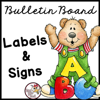 Bulletin Board LABELS with Bears