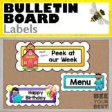 Bulletin Board Set LABELS with cute kids