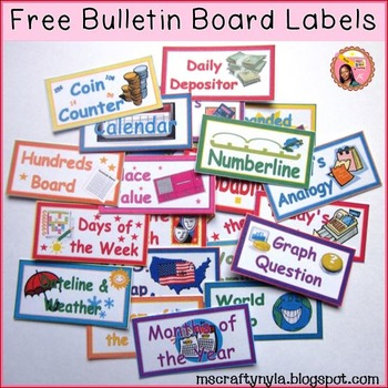 Free Bulletin Board Labels