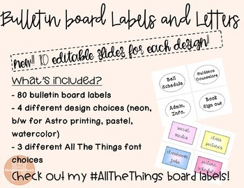 Bulletin Board Labels and Letters