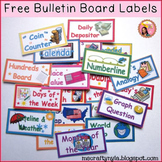 Free Bulletin Board Labels
