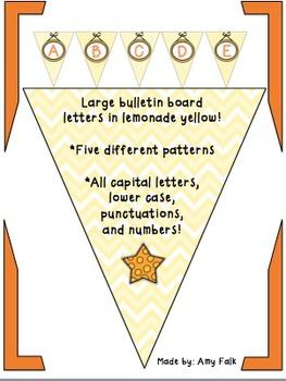 Bulletin Board Lemonade Letters!