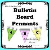 Bulletin Board Letter Pennants