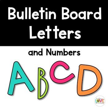 Bulletin Board Letter and Number Sets
