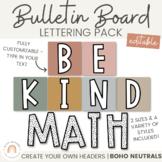 Bulletin Board Lettering Pack - Neutral BOHO RAINBOW | Boho Classroom Decor