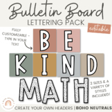 Bulletin Board Lettering Pack - Neutral BOHO RAINBOW | Boh