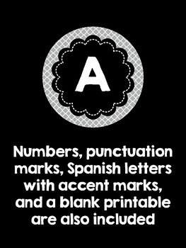 bulletin board letters black and gray